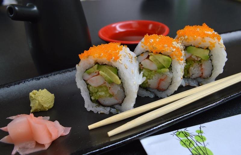 суши с имбирем