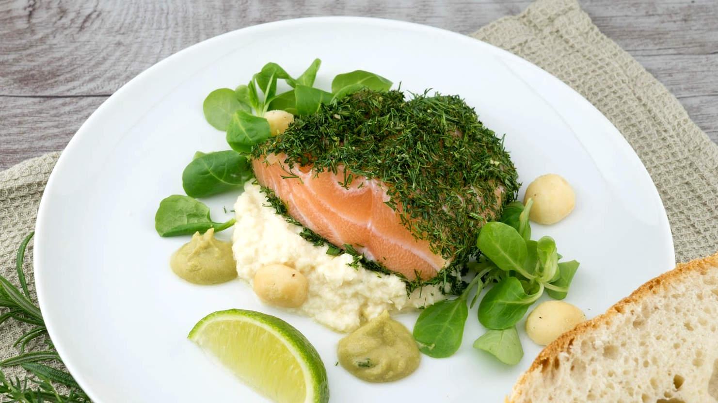 Рыбное блюдо с имбирем