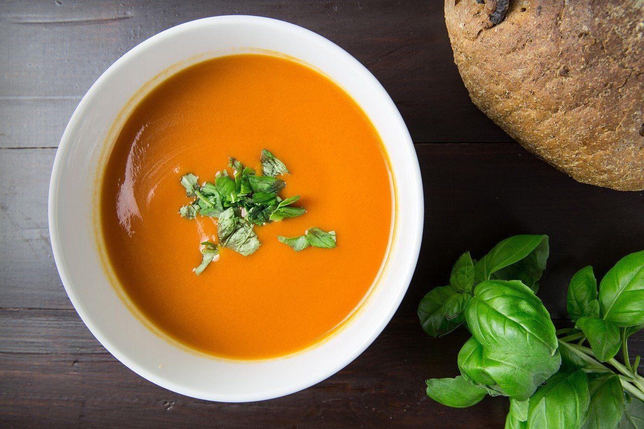 Суп-пюре с базиликом