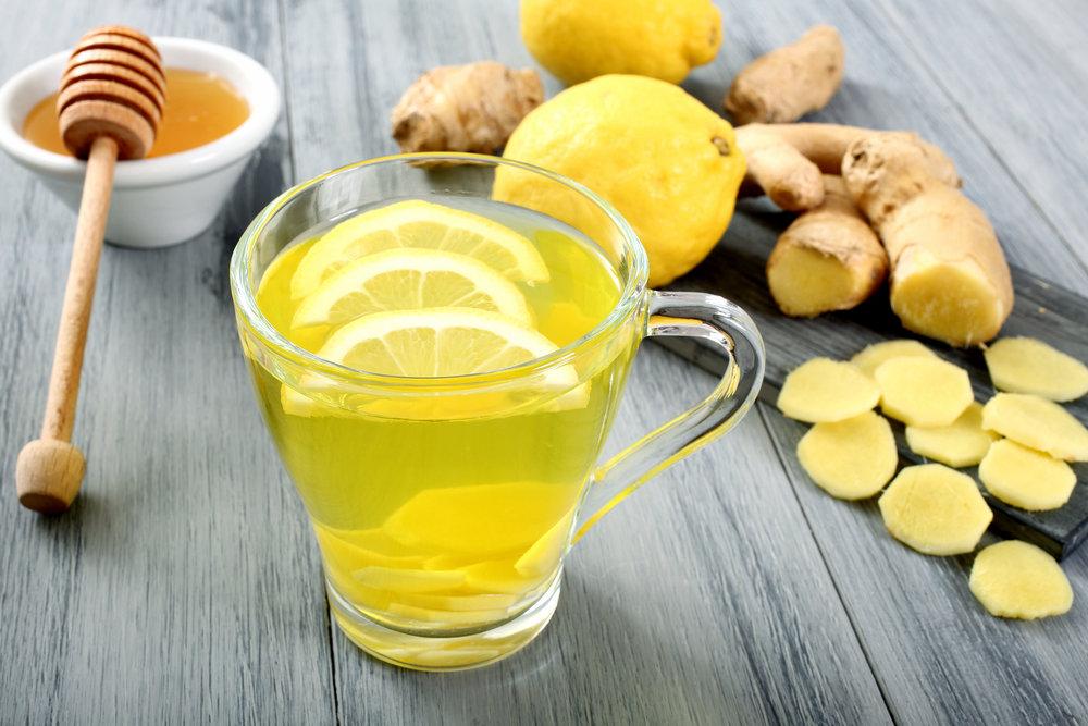 Имбирно-лимонный чай с медом