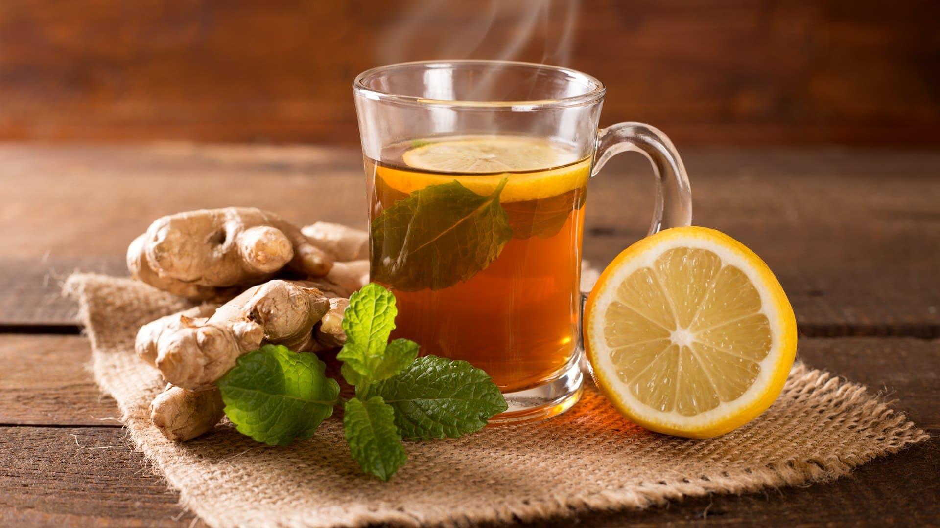 Зеленый чай с имбирем илимоном